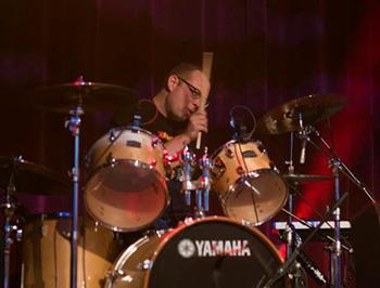 David Farmer on drums